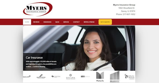 Myers Insurance Group Website